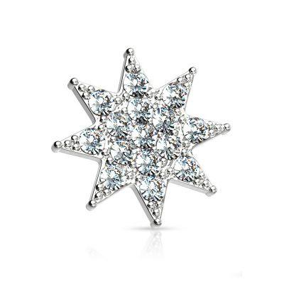 Paviršinis žvaigždutes formos auskaras iš 14k aukso