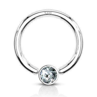 Karolinis žiedas iš 14k aukso su kristalu
