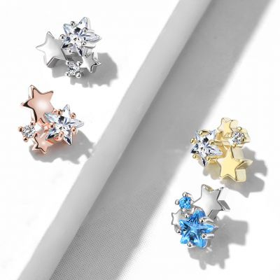 Paviršinis auskaras su begalybe žvaigždučių