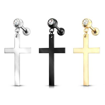 Barbell with cross dangle
