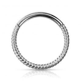 Susuktas žiedas su kilpa