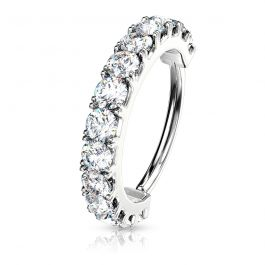 Seamless ring with stone channel in the color of your choice